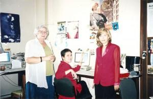 Reghina Varvici, Dollo si Monica Szlavik, in fostul nostru birou inghesuit de la Social