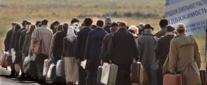Orchestra lui Mihaileanu in drum spre aeroportul din Moscova