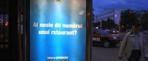 Reclama Romtelecom la statia de metrou Timpuri noi