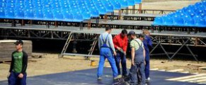 Zone Arena, pe vremea cand se construia ferice - foto Agerpres