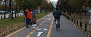 Noua pista de biciclete pe pe Bulevardul Unirii