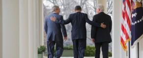Ultimii trei presedinti ai SUA, de vanzare