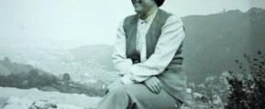 Mama, cam la 35 de ani, undeva pe Valea Prahovei