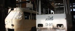 Tramvaie românești în reparații la URAC