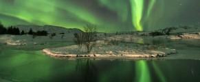 Aurora fotografiata in Islanda