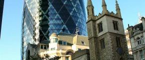 Cladirea ou din cartierul financiar al Londrei