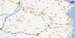 Cernavoda,A2 - Lazu,A2 - ruta alternativa