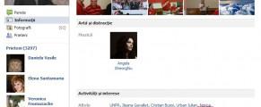 Ontanu si interesele lui pe Facebook