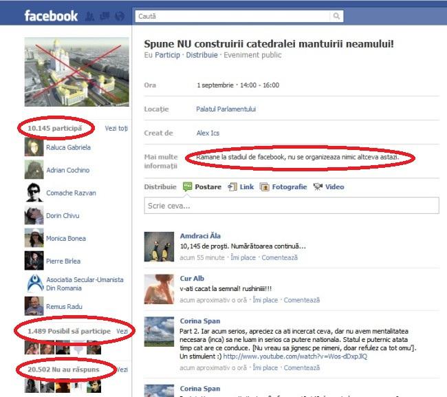 Protest pe Facebook