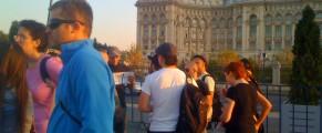 Impotriva catedralei, in fața Parlamentului