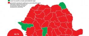 Acces facil la informatii in Romania - doar în județele colorate cu verde