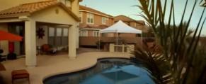 Spatele casei lui Vasile Tintas din Arizona