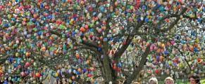 Un copac din estul Germaniei a înflorit 10.000 de oua vopsite