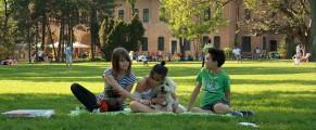 Copiii și câinele, la picnic la Mogoșoaia