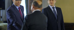 Băsescu, Ponta și Antonescu, o postură ce se poate repeta și după 29 iulie - Foto Mediafax