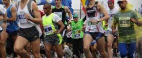 Ilie Roșu la startul Maratonului București