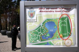 Porțiunea încercuită cu roșu este zona retrocedată din parcul IOR