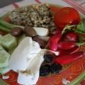 Salata lui Brian din Jersey, cu cartofi românești din Harghita