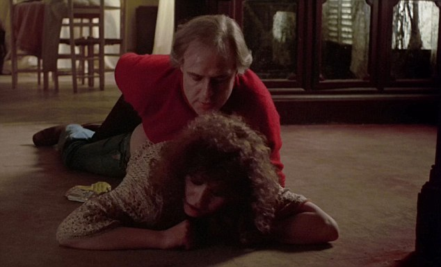 Marlon Brando and Maria Schneider appear in an extremely controversial scene in erotic drama 'Last Tango In Paris.'