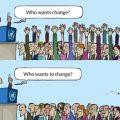E nevoie de schimbare, dar nu începeți cu noi